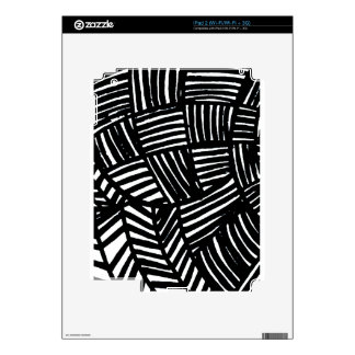 Black and White Striped Pattern Decals For The iPad 2