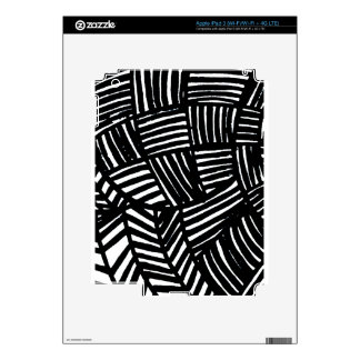 Black and White Striped Pattern iPad 3 Decal