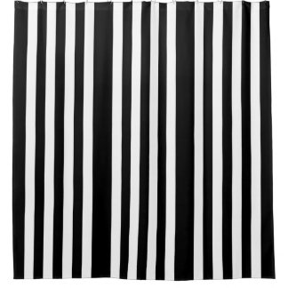 Black Striped Shower Curtains | Zazzle