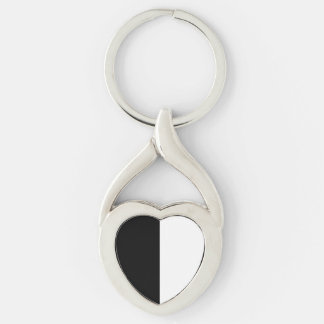 Black and White Striped Keychains
