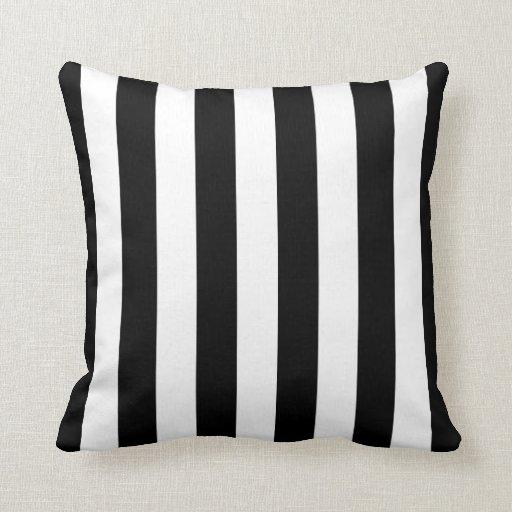 Black And White Striped Throw Pillows : Black and White Striped Pillow