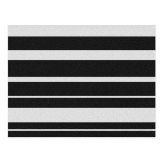 Black and White Striped Postcard