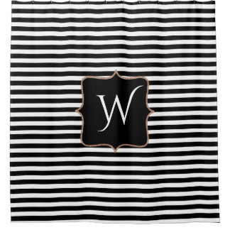 Black And White Striped Shower Curtains Zazzle