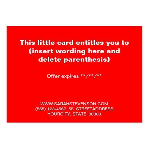 Black and White Striped Simple Holiday Gift Card Business Card (back side)