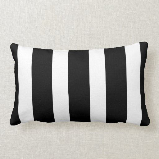 Black And White Striped Throw Pillows : Black and white striped throw pillow Zazzle