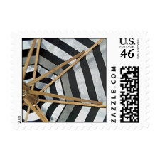 Black and White Striped Umbrella Small Stamps stamp