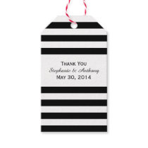 Black and White Striped Wedding Gift Tags