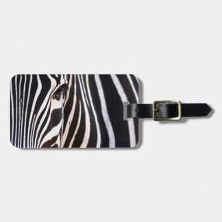 Black and White Striped Zebra Tag For Bags