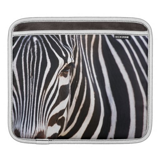 Black and White Striped Zebra Sleeve For iPads
