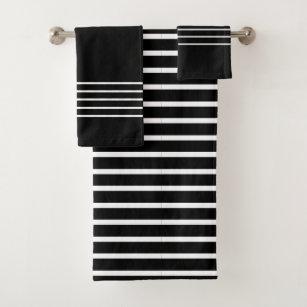 Black And White Stripes Bath Towels Zazzle