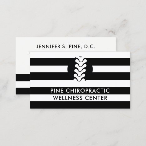 Black and White Stripes Chiropractor Doctor