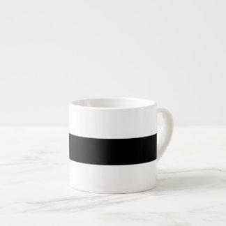 Black And White Stripes Classic Espresso Cup