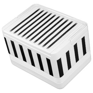 Black and White Stripes Cooler
