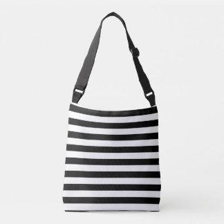 Black and White Stripes Crossbody Bag