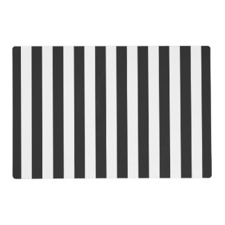 Black and White Stripes Custom Color Placemat