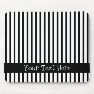 Black and White Stripes Customizable Mouse Pad