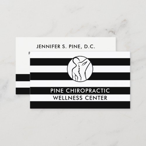 Black and White Stripes Doctor Medical Business Card