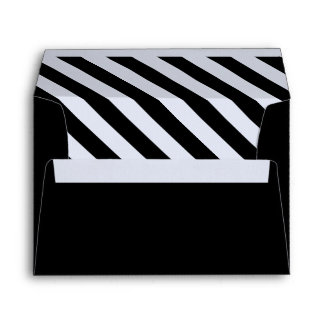 Black and White Stripes Envelope