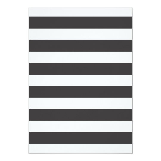Black and White Stripes Invitation