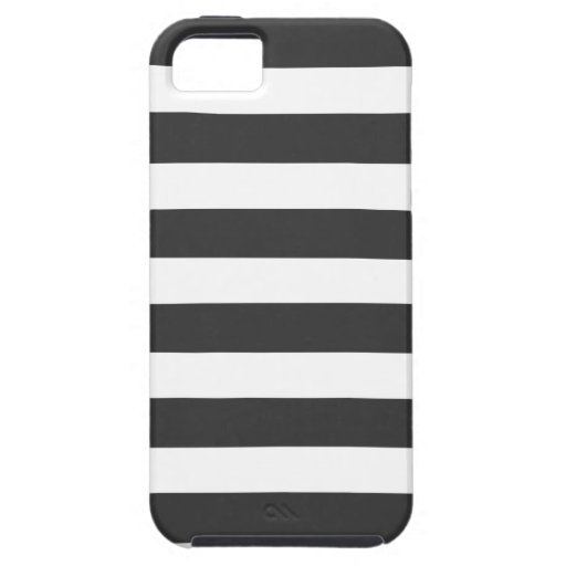 Black and White Stripes iPhone 5 Case-Mate Tough iPhone 5 Cases