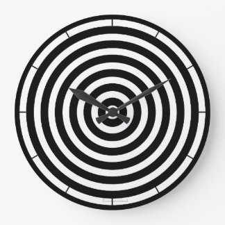 Black and White Stripes Large Clock