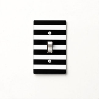 Black and White Stripes - Light Switch Cover