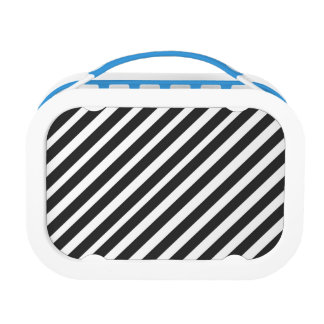 Black and White Stripes Lunch Box