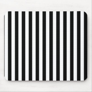 Black and White Stripes Mousepads