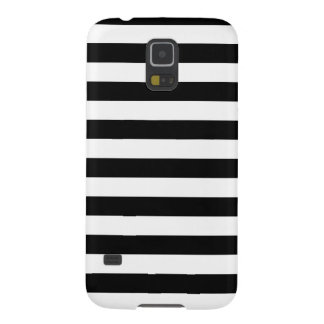 Black and White Stripes Pattern Galaxy S5 Case