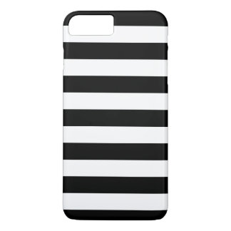 Black and White Stripes Pattern iPhone 8 Plus/7 Plus Case