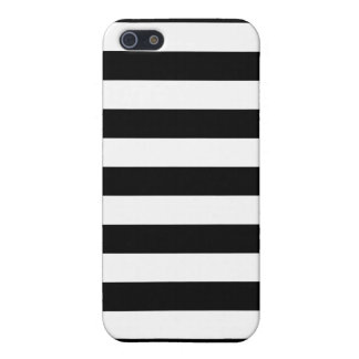 Black and White Stripes Pattern iPhone SE/5/5s Cover