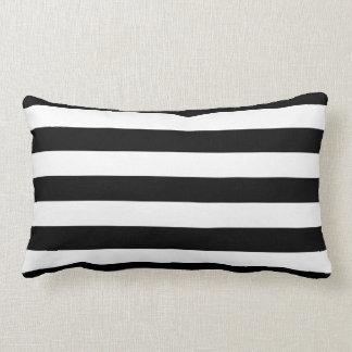 Black and White Stripes Pattern Lumbar Pillow