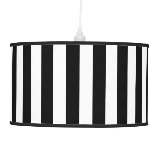 Black and white stripes pendant lamp shade zazzle black and white stripes pendant lamp shade aloadofball Gallery