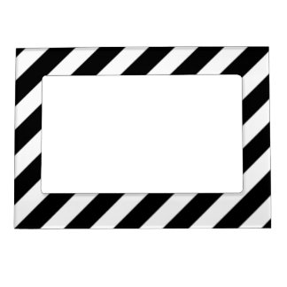 Black and White Stripes - Picture Magnetic Frame