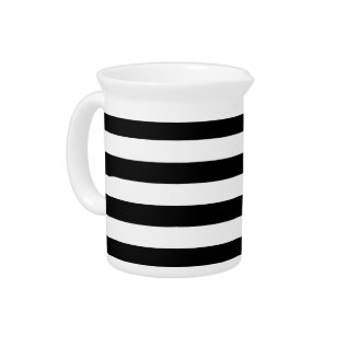 Black And White Stripes Pitcher at Zazzle