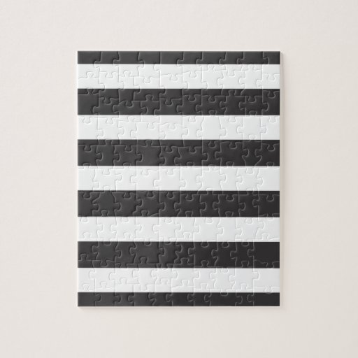Black and White Stripes Puzzle with Tin