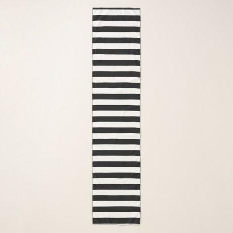 Black and White Stripes Scarf