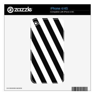 Black And White Stripes iPhone 4 Decal