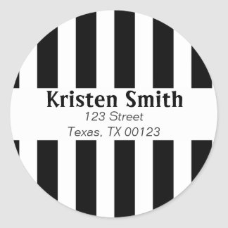 BLACK AND WHITE STRIPES STICKERS