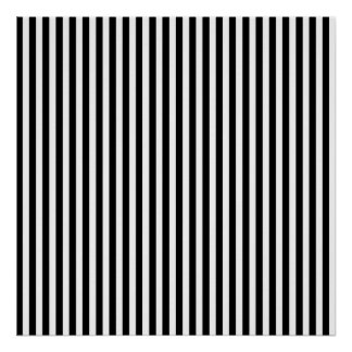 Black and White Stripes; Striped Poster
