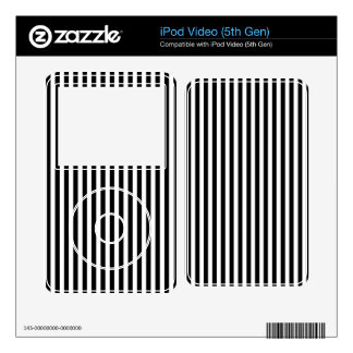 Black and White Stripes; Striped Decal For The iPod Video
