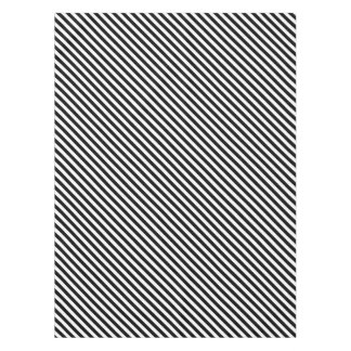 black and white stripes tablecloth
