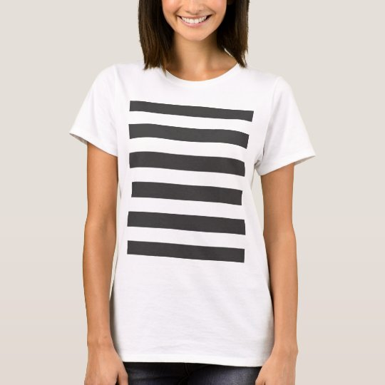 Black and White Stripes Tee Shirt Fitted