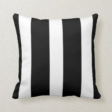 sterlingnights Black and White stripes Throw Pillow