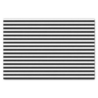 Black and White Stripes Tissue Paper