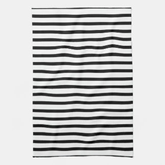Black and White Stripes Towel