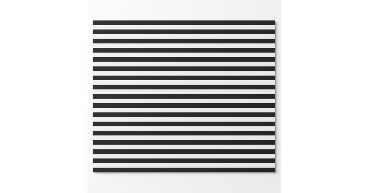Black And White Stripes Wrapping Paper Zazzle