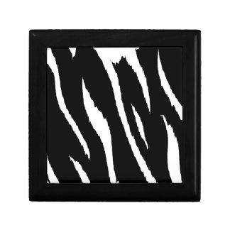 Black and White Strips Jewelry Box