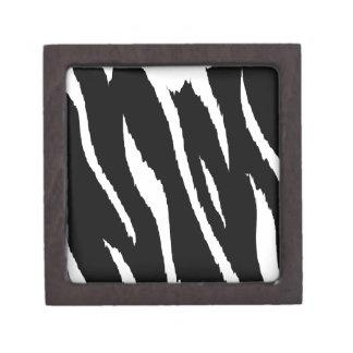 Black and White Strips Premium Keepsake Box