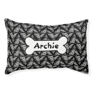 Black And White Stylish Custom Dog Bed - Small Small Dog Bed